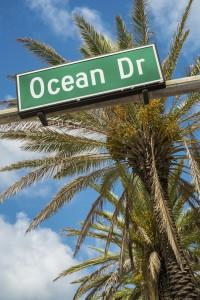 Berömda Ocean Drive.