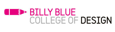 Billy Blue College of Design logo på blueberry.nu