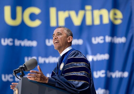 UC Irvine Obama Commencement Ceremony