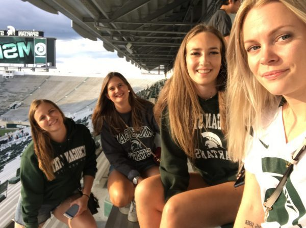 michigan state university tjejer studenter football