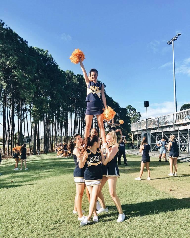 Cheerleaders i Australien på Bond Univeristy