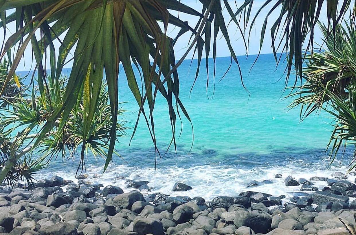 Stranden i Gold Coast Australien