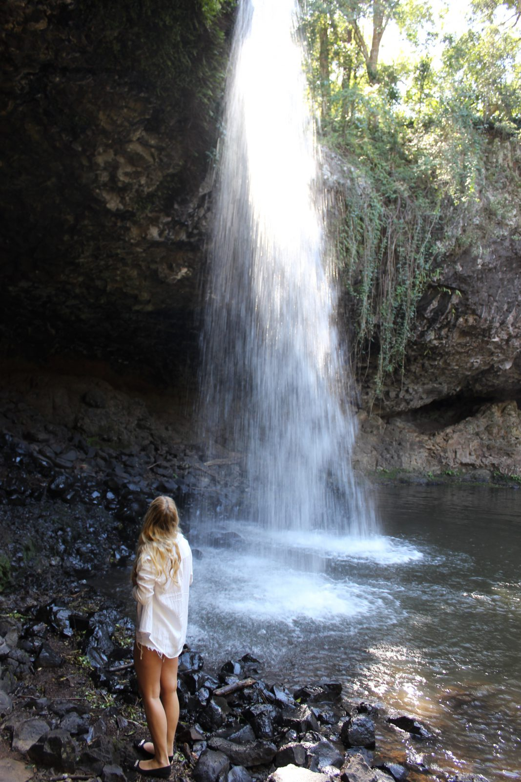 Bada i vattenfall Gold Coast