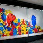 Vårens design utställning från RMIT University i Melbourne. De har använt sig av färg, form och perspektiv för att skapa stora detaljfyllda verk.