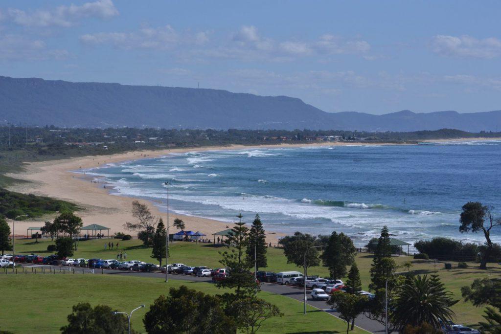 Strand, kust, Wollongong, Australien, University of Wollongong, studera utomlands, studera i Australien