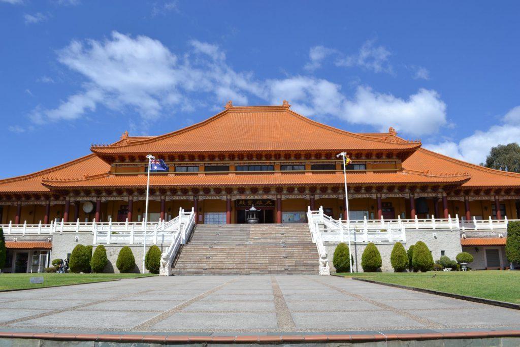 Nan Tien Tempel, buddism, wollongong, University of Wollongong i Australien, studera utomlands