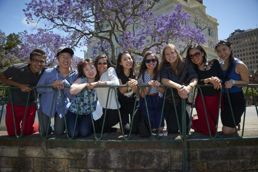 studenter på QUT Blueberry
