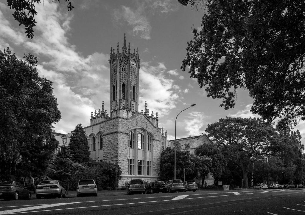 University of Auckland, klocktorn, studera utomlands med Blueberry i New Zealand.