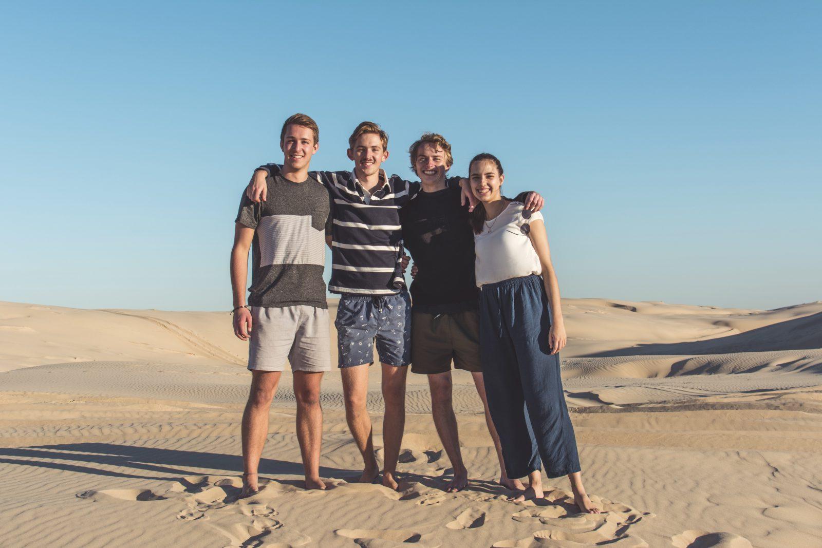 Vänner, Sanddyner i Australien