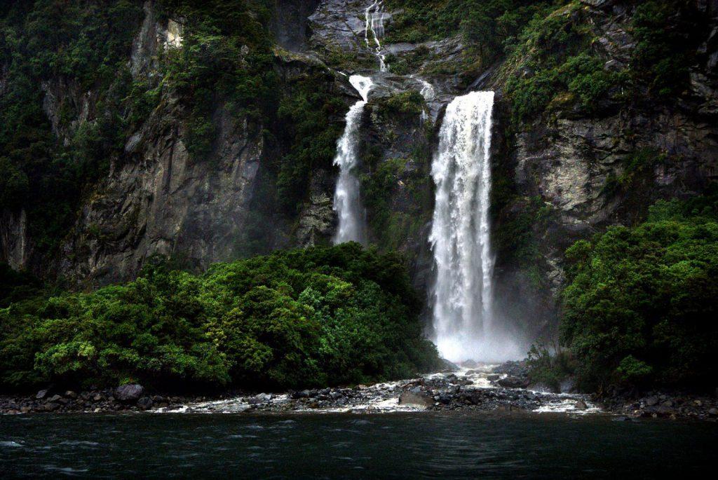 Vattenfall, hajk, New Zeeland