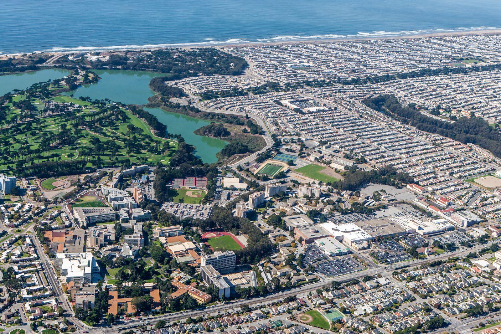 Flygbild över San Francisco