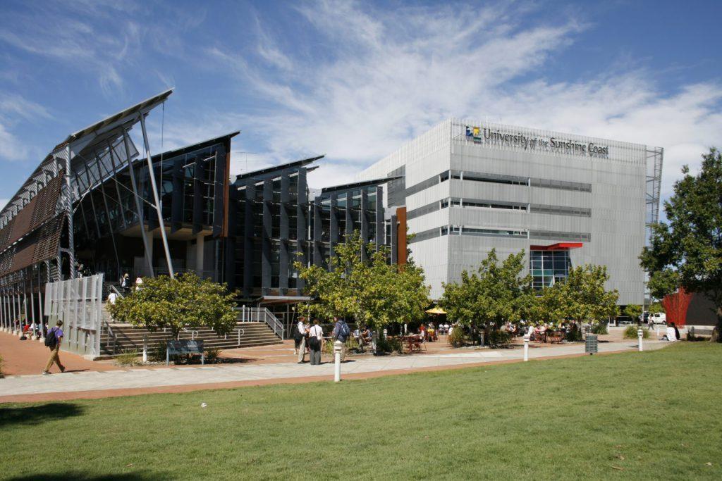 University of the Sunshine Coast, Australien, studera utomlands, campus, solsken, gräs, Top-up Degree