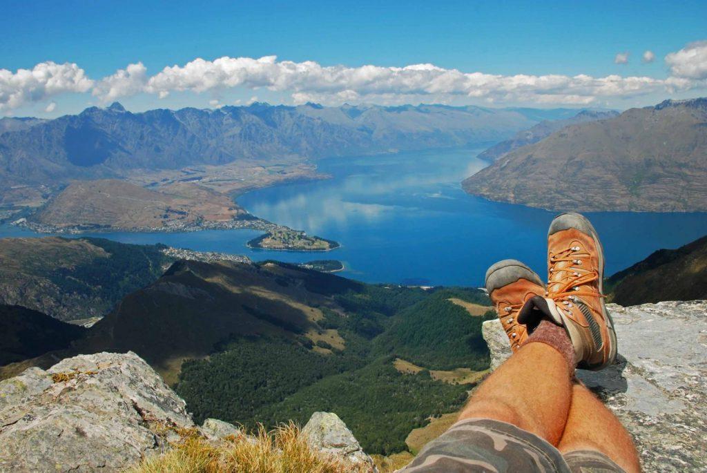 vandra, utsikt, australien, stanna kvar, plugga