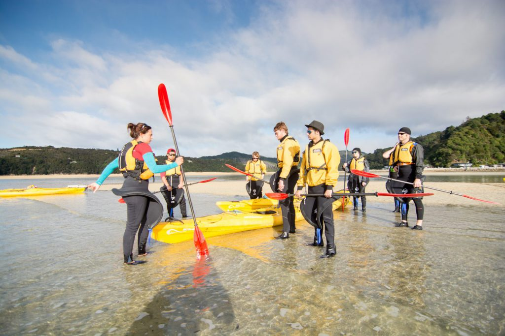 studera utomlands i nya zeeland, Nelson, NMIT, kajak, äventyr, paddla