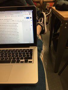 Studera utomlands på BIMM i London, här är jag på föreläsning, en vanlig skoldag, läs mer om Bellas upplevelse på BIMM London, BIMM London, UK