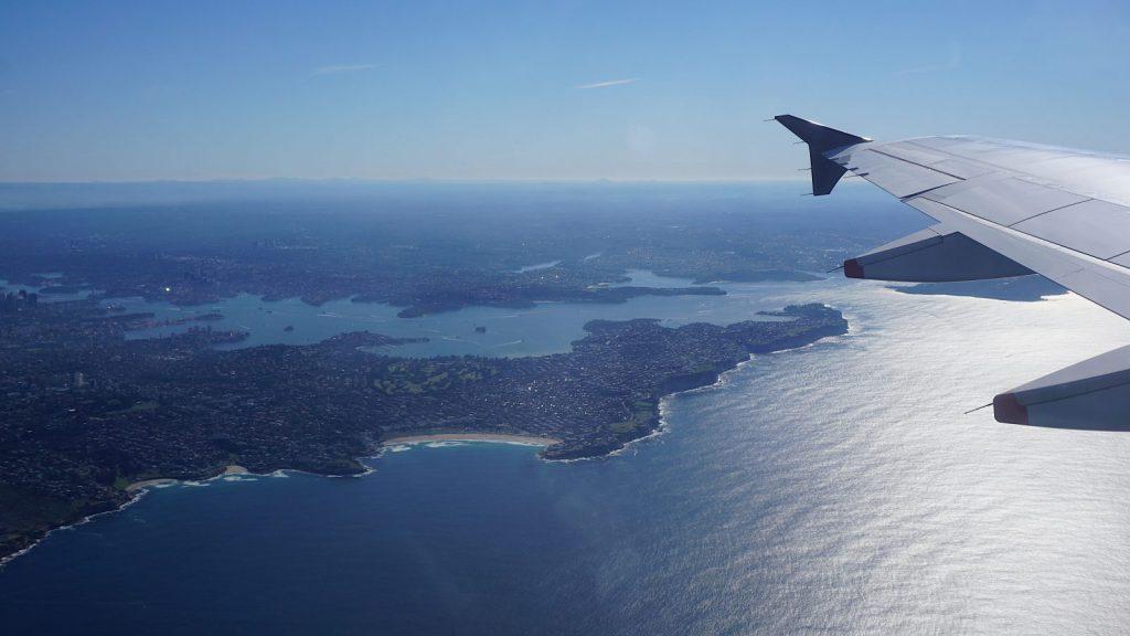 Studera utomlands, Australien, UNSW Sydney, view from plane