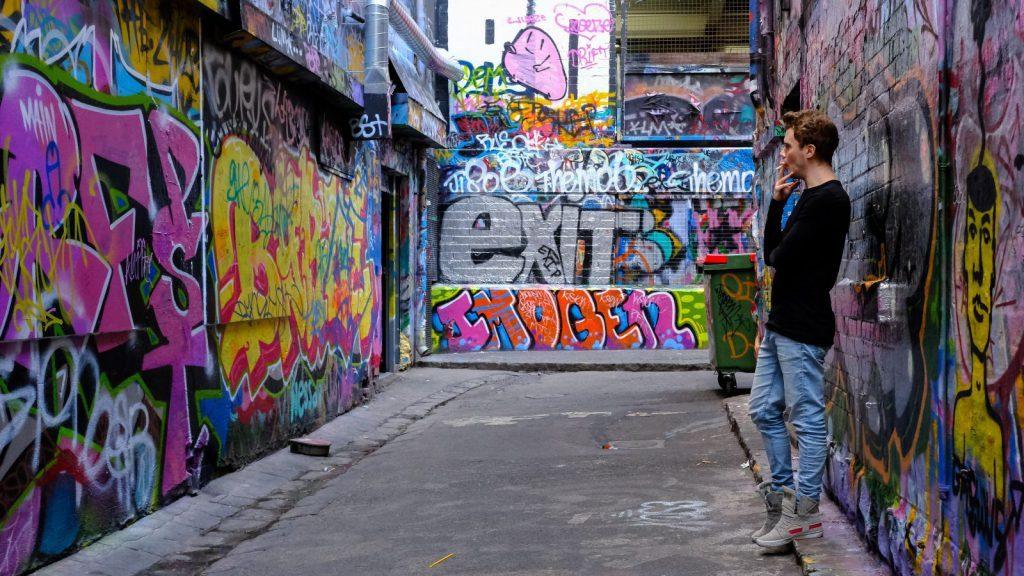studera i australien, melbourne, graffiti, studera på swinburne university of technology,