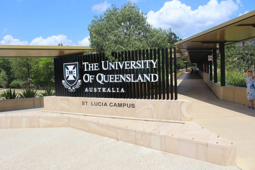 University of Queensland, Brisbane, Queensland, Australien, ansök via blueberry.nu