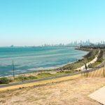Vy över havet i Melbourne