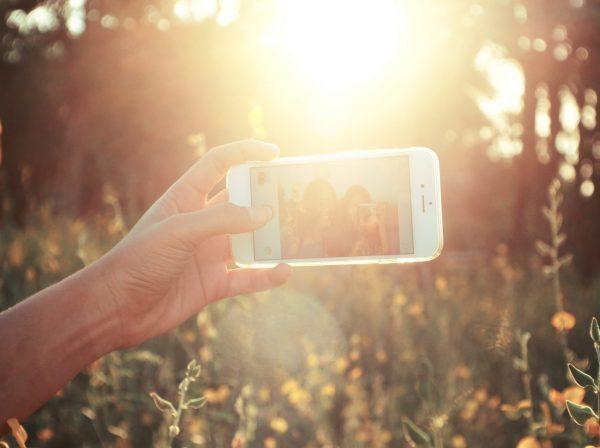 Mobilfoto i solen
