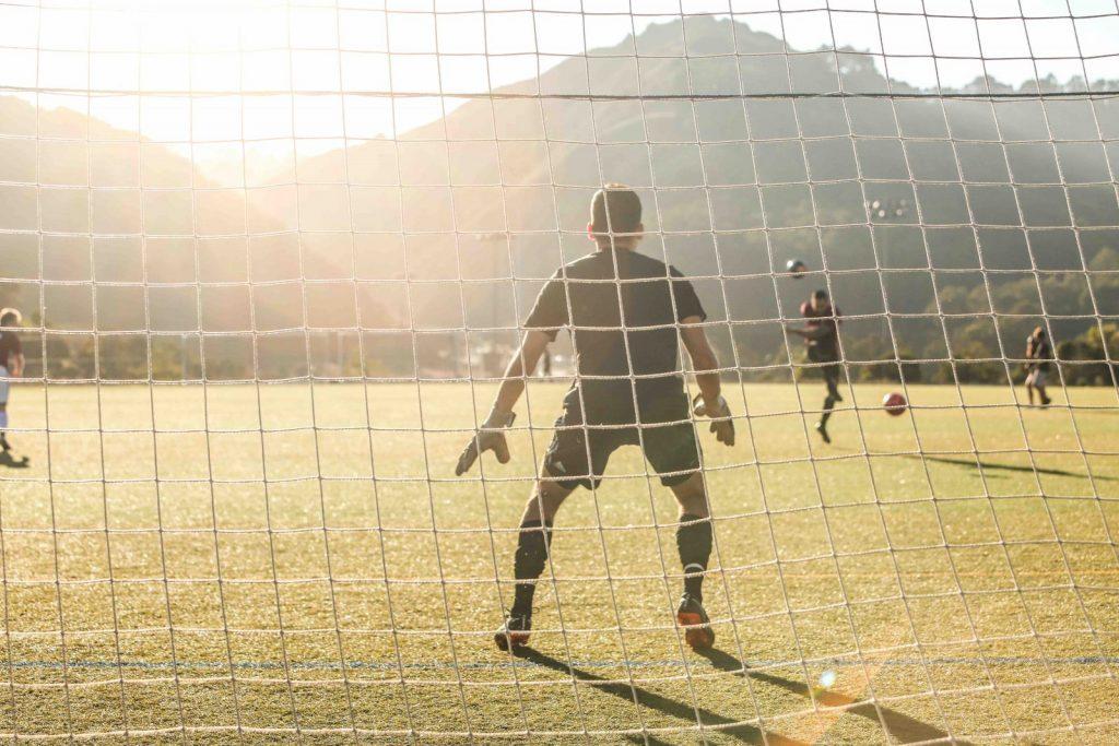 Målvakt fotbollsspelare