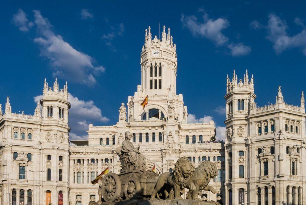 Byggnad Madrid
