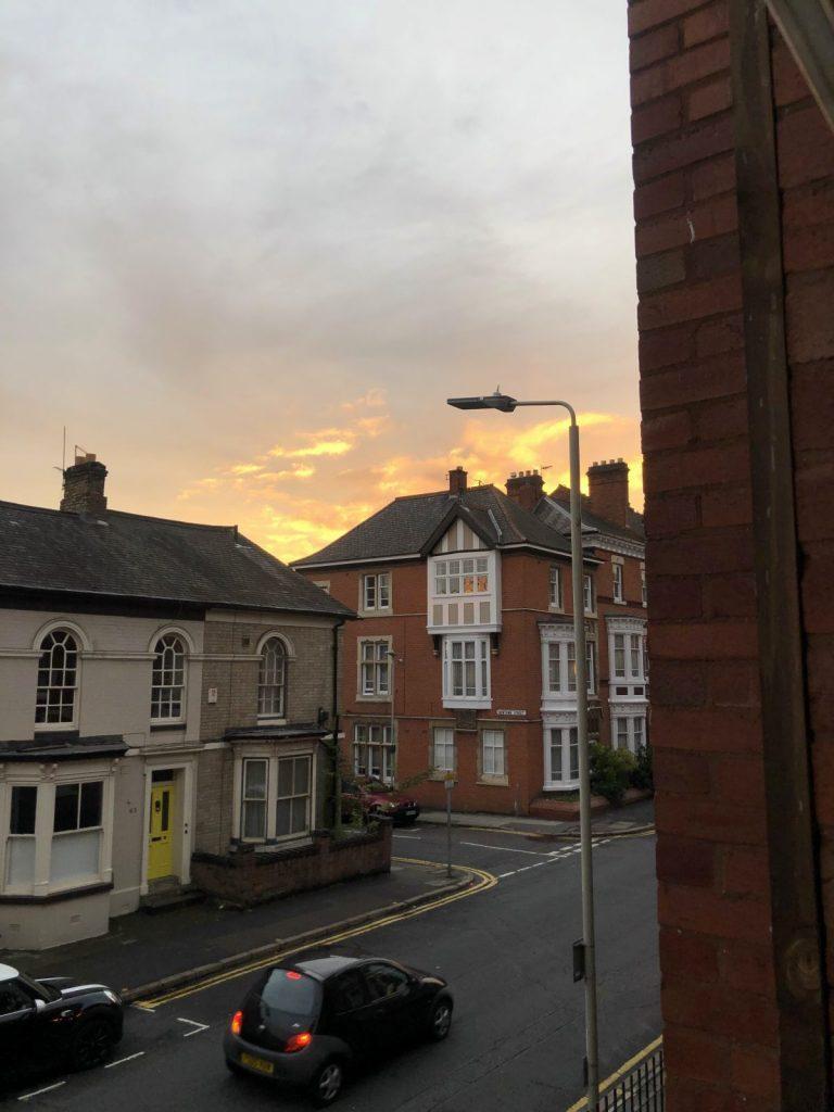 Students utsikt från boende i Leicester
