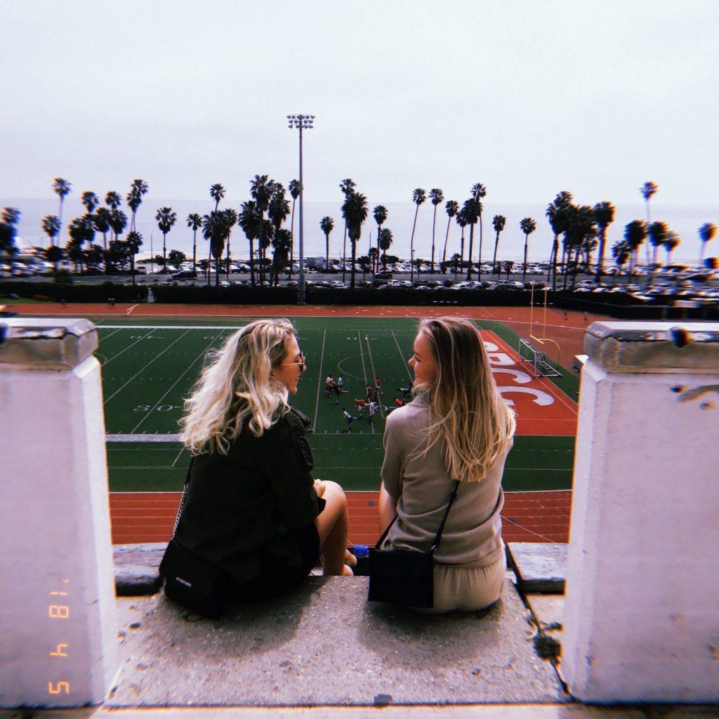 Utsikt från La Playa Stadium på SBCC