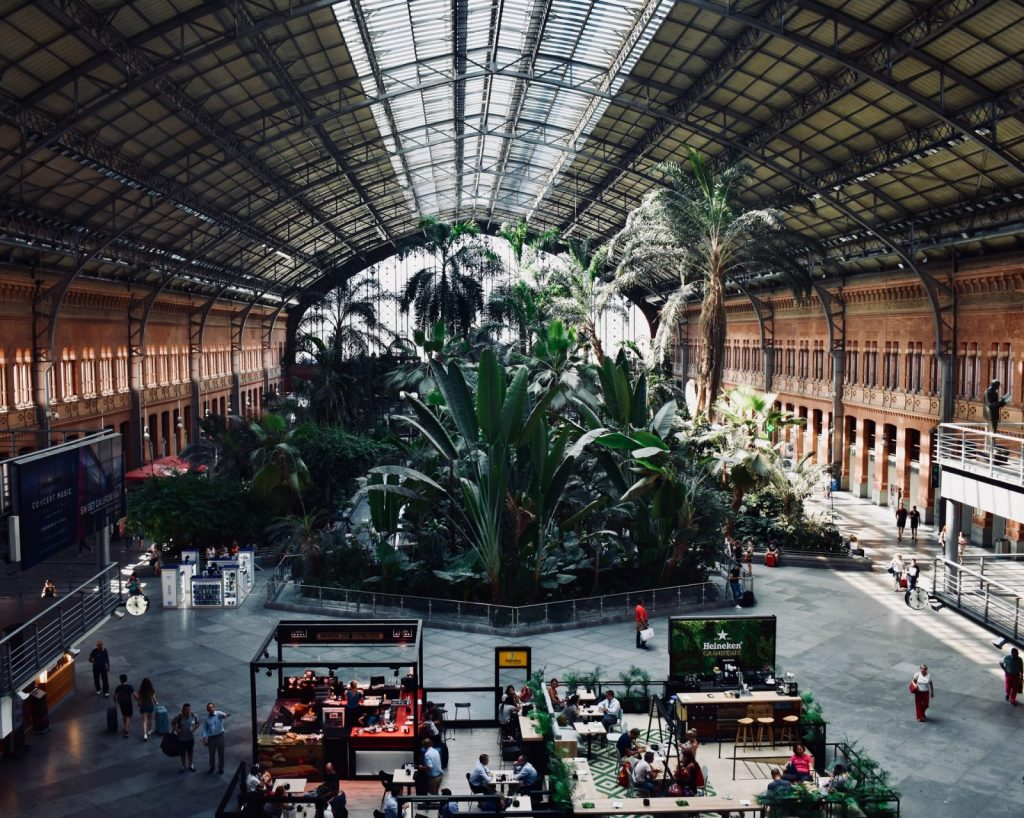Tågstation i Madrid