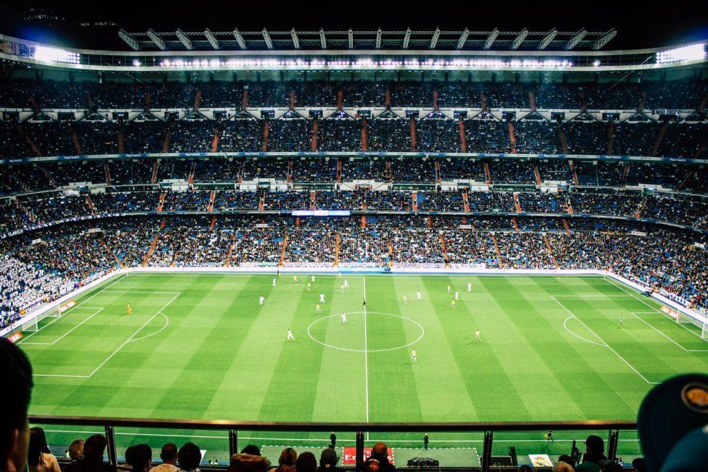 Fotbollsmatch i Madrid