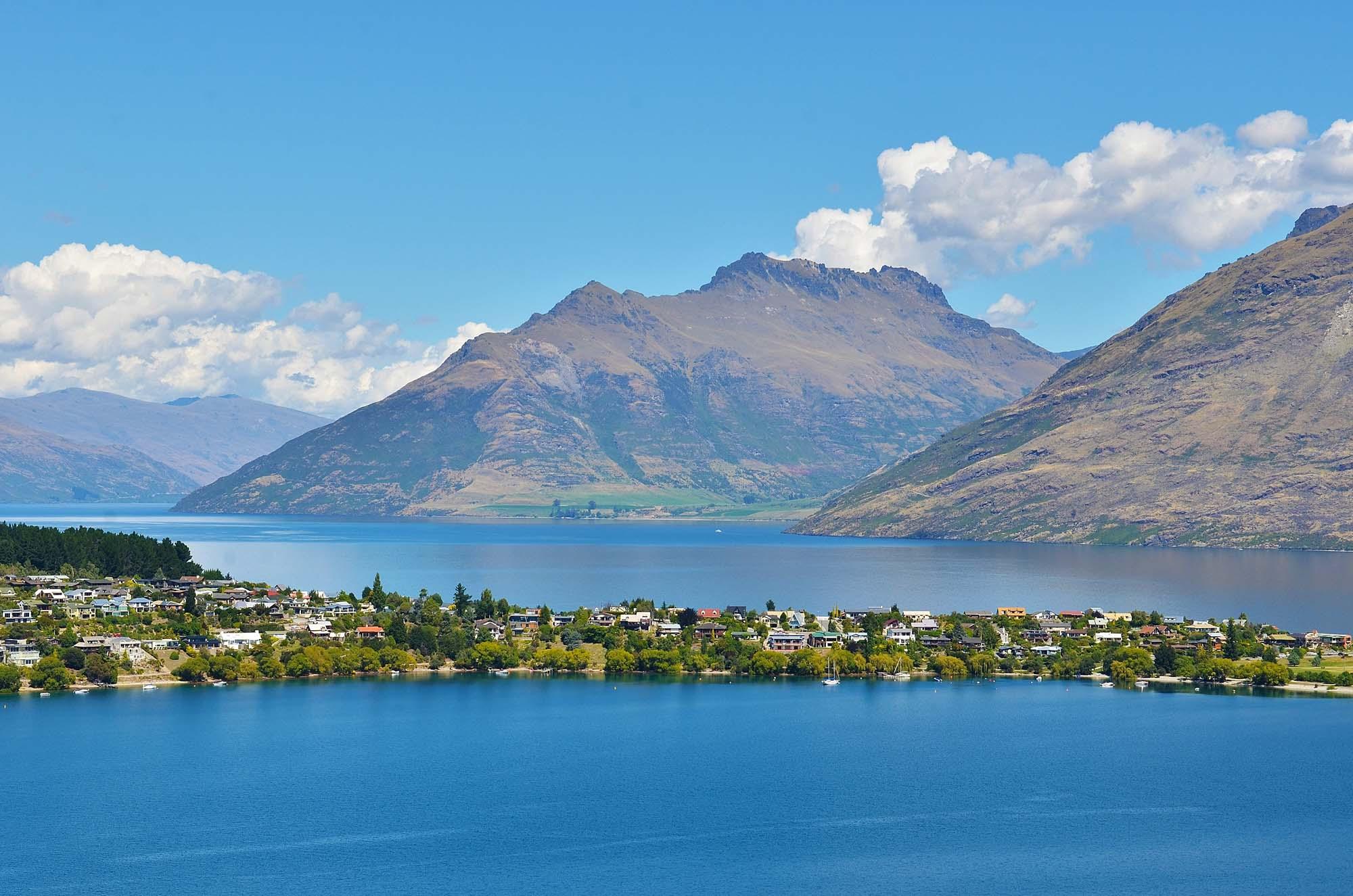 Bergs landskap i Nya Zeeland